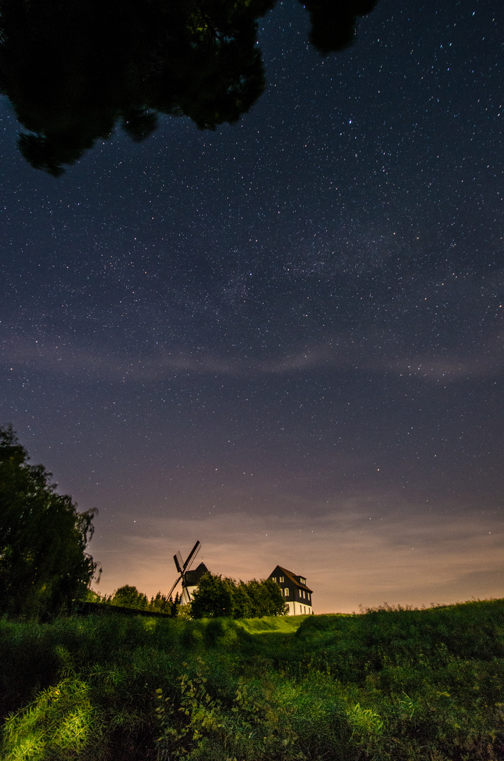 Mühle in der Nacht
