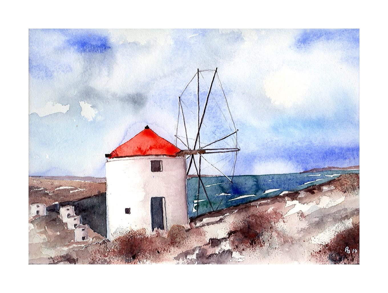 Mühle in Griechenland