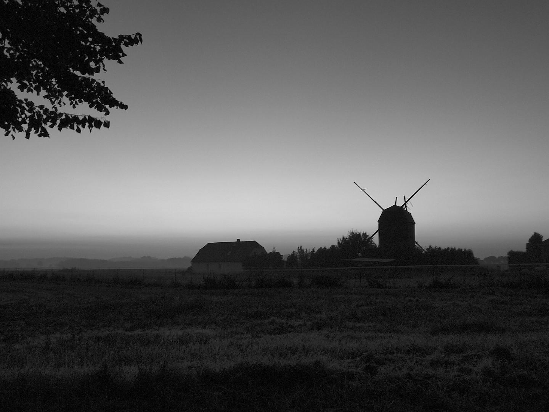 Mühle - morgens auf dem Land