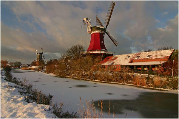 Mühlen im Schnee