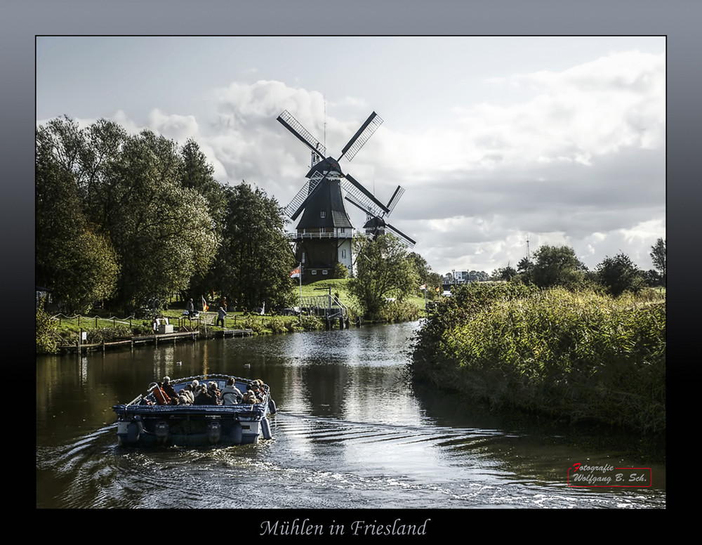 "Mühlen in Friesland / ""Zwillingsmühlen Greetsiel"""
