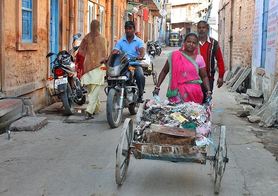 Müllabfuhr auf Indisch