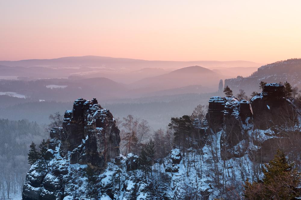 Müllerstein in der Morgensonne