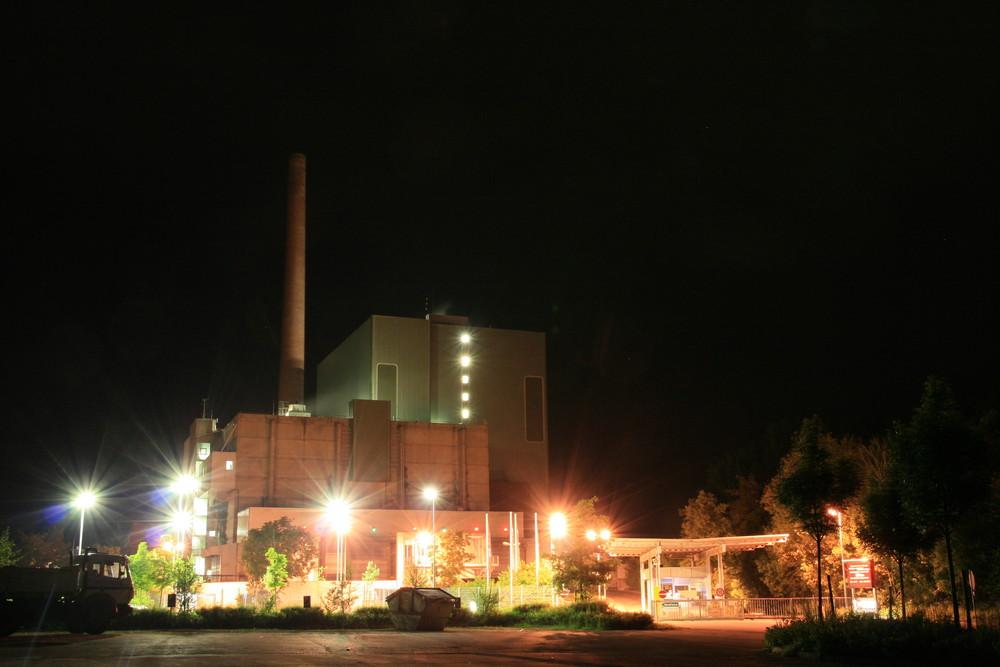 Müllheizkraftwerk @ Night