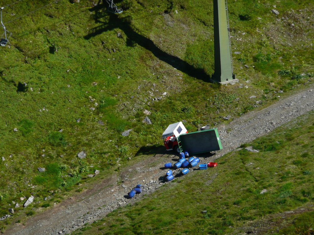 Mülltransport im Montafon