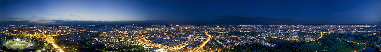 München - 360°-Pano vom Olympiaturm