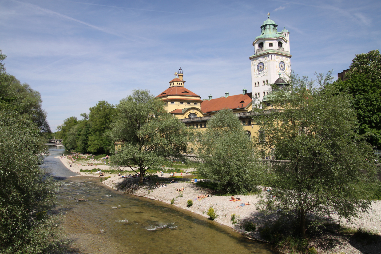 m nchen isar und m llersches volksbad foto bild munich world bilder auf fotocommunity. Black Bedroom Furniture Sets. Home Design Ideas