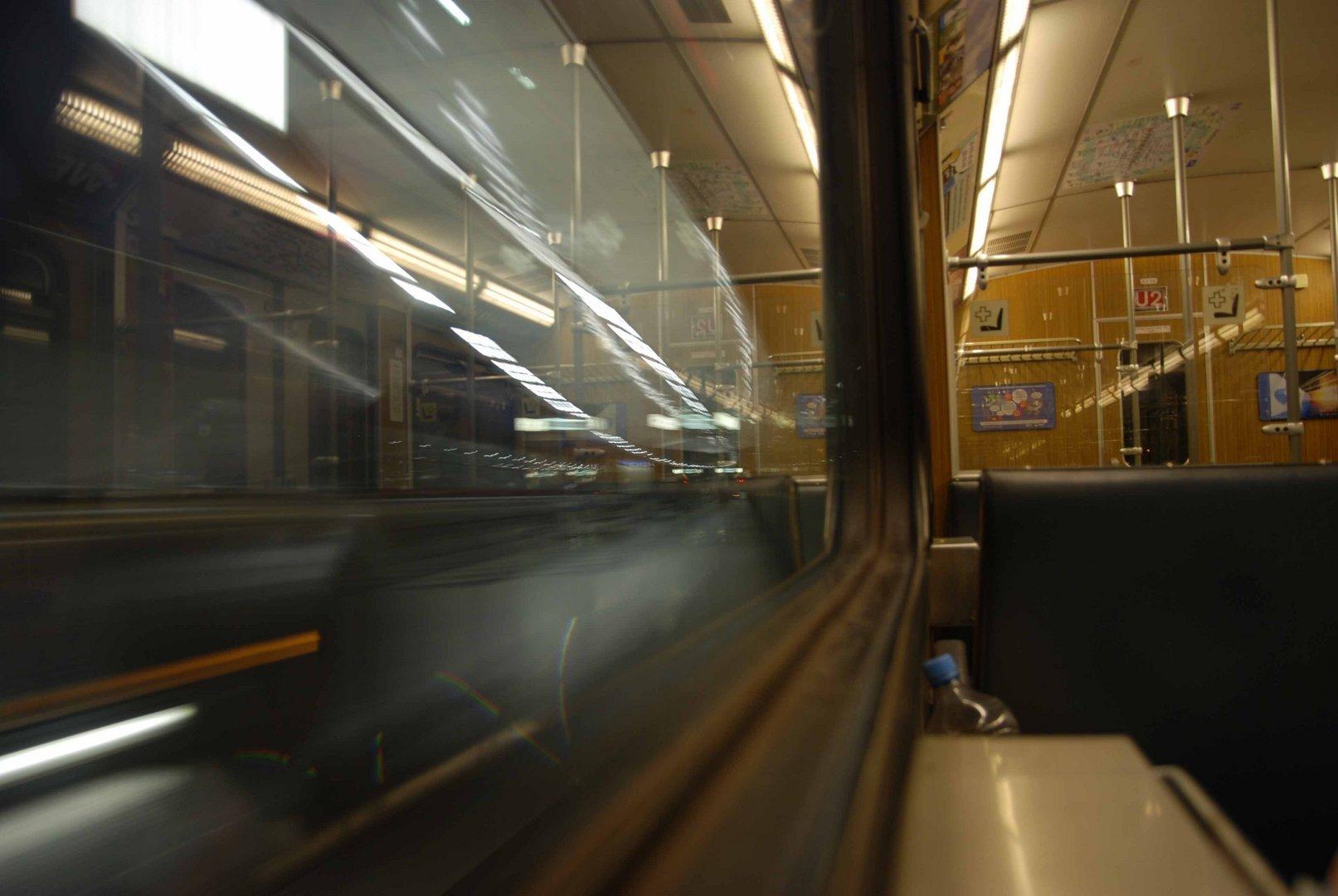 München Ubahn bei Nacht 4