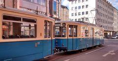 Münchener Trambahn Serie M mit Schiebetüren