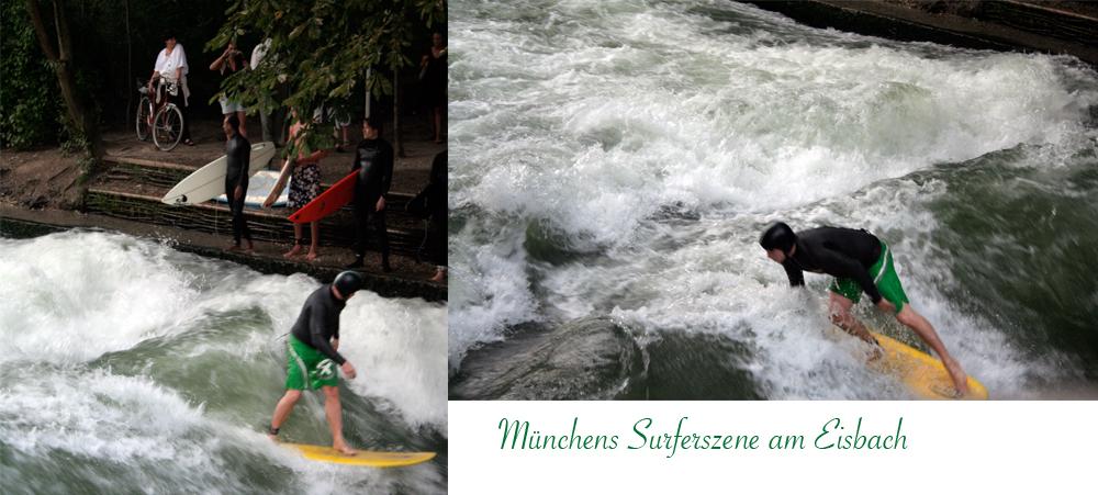 Münchens Surferszene am Eisbach