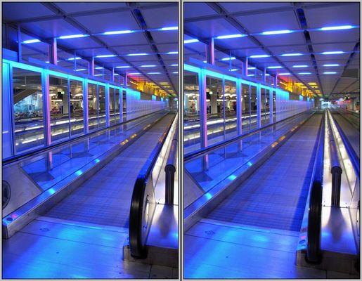 Münchner Flughafen Rollband 3D