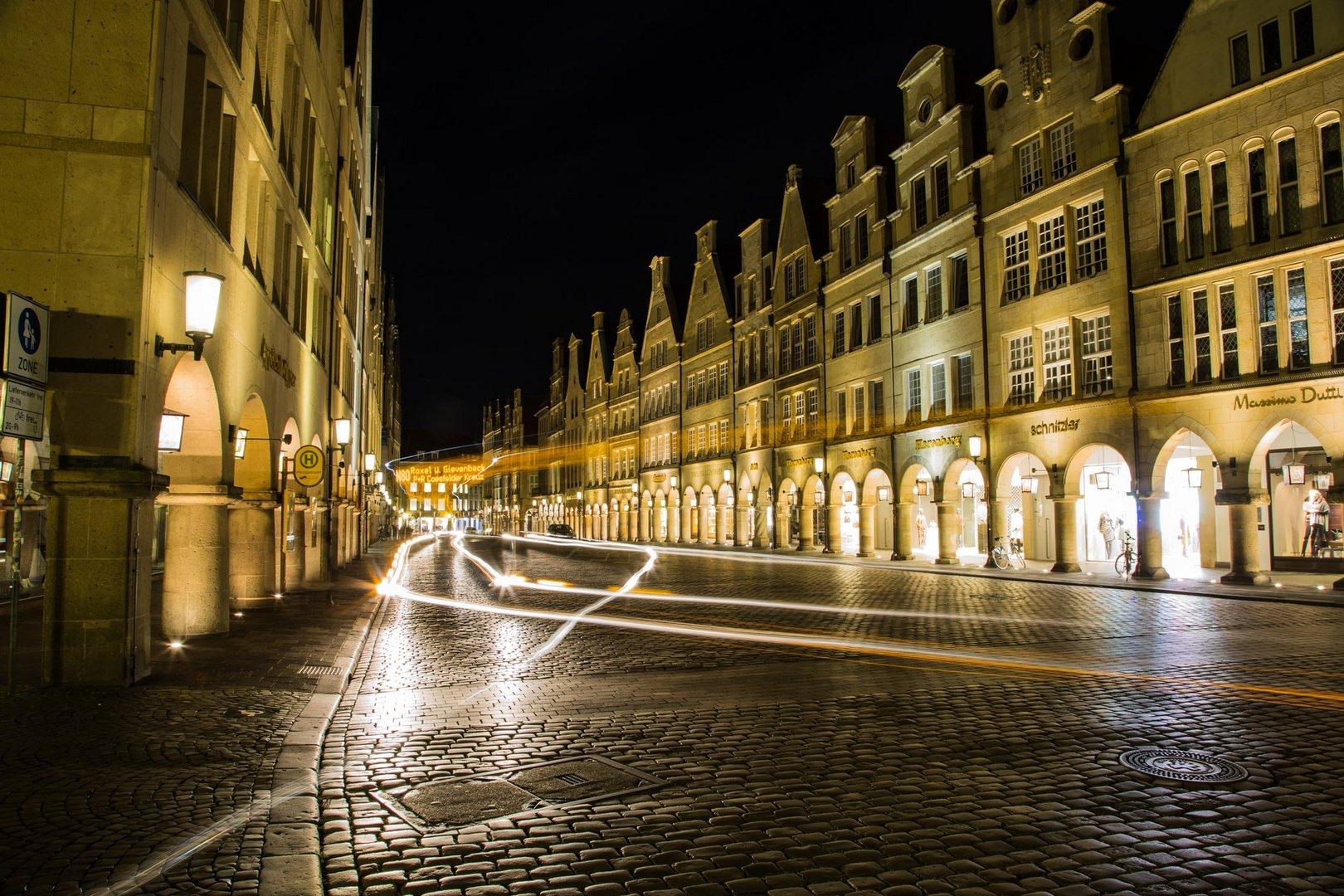 Münster Prinzipalmarkt bei Nacht