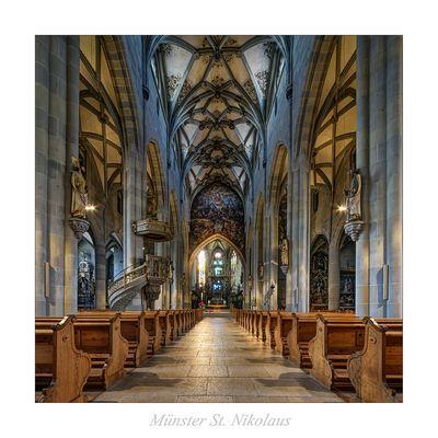 """Münster St. Nikolaus (Überlingen) """" Blick zum Hochaltar..."""""""