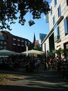 Münster, Stubengasse mit Aussencafé an Juni-Abend 2011