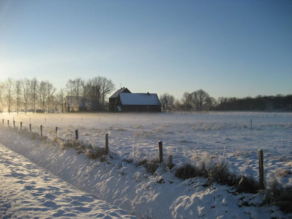 Münsterland bei -18 Grad
