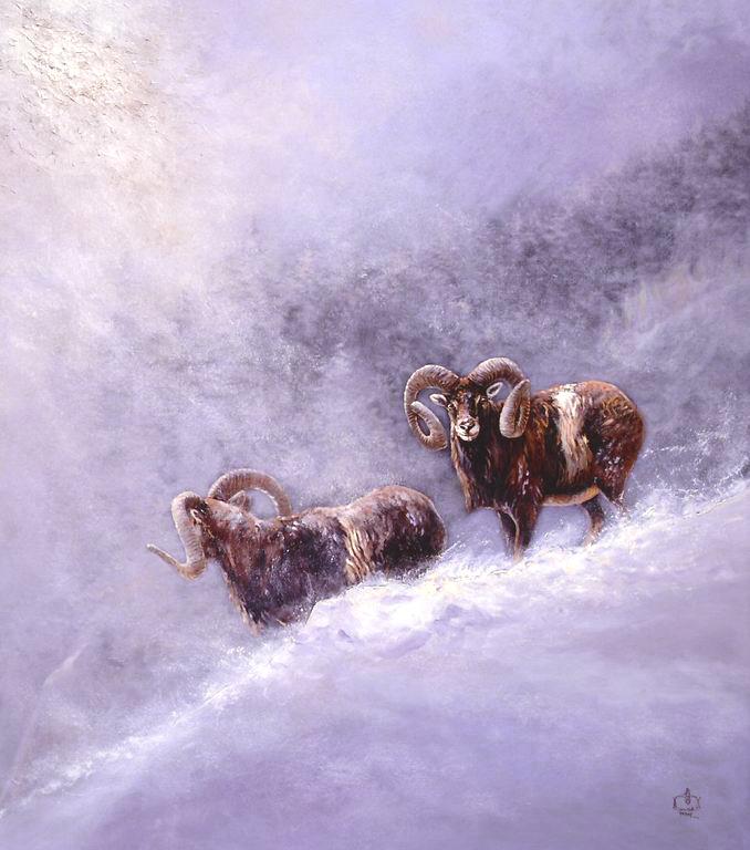 Muffelwidder im Schnee (Gemälde)