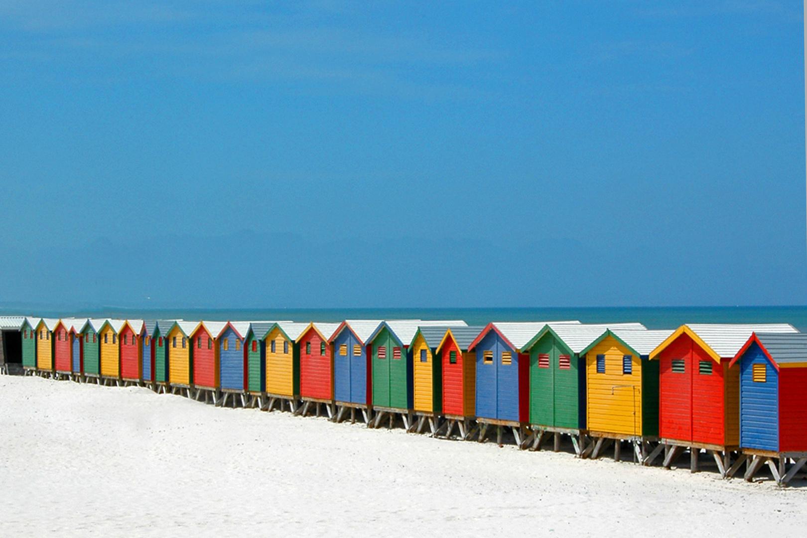 Muizemberg festival di cabine sulla spiaggia foto for Cabine sulla sponda nord