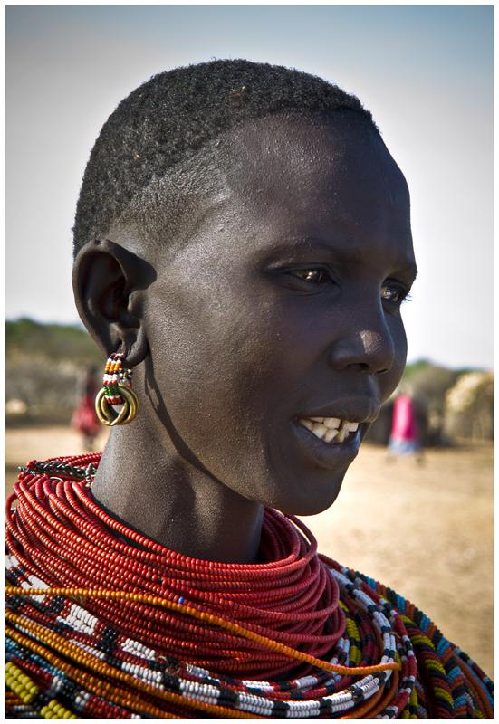 Mujer trubu Samburu (Kenya)