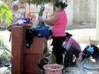 Mujeres lavando