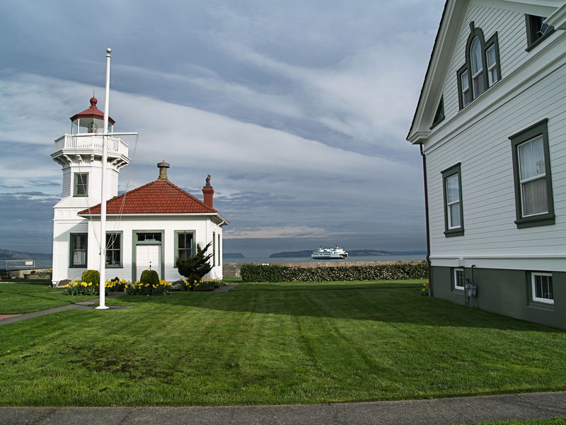 Mukilteo Lighthouse in The morning