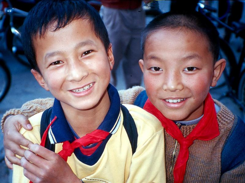 multi' cultural - two chinese youngsters