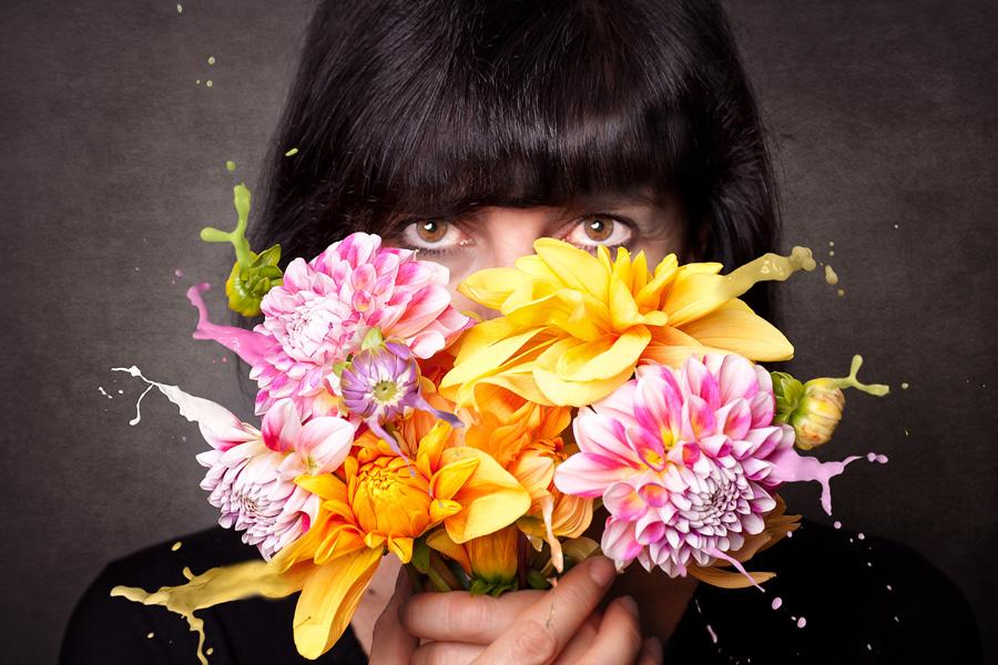 Multivitaminsaftblumenstraus aus eigenem (Photoshop)-Garten
