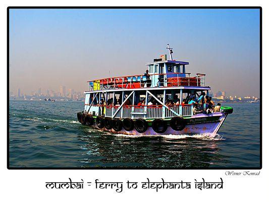 Mumbai - Ferry to Elephanta Island