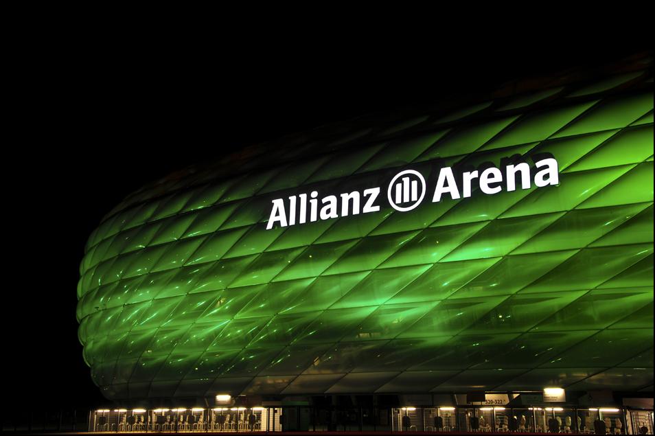 munich arena goes irish