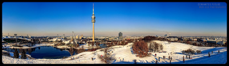 Munich Olympia Park panorama