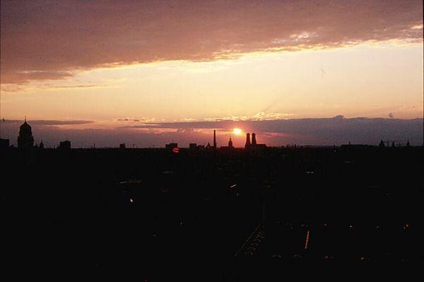 Munich Sunset - Stadtshilouette [2]