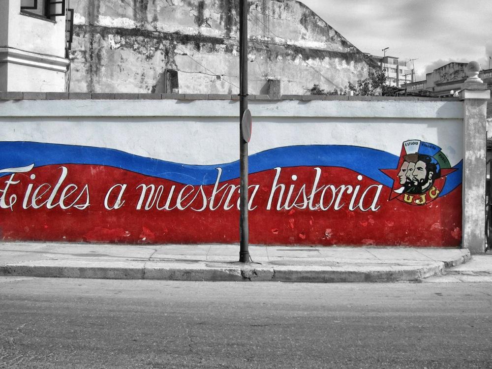 Mural in Havanna, Kuba