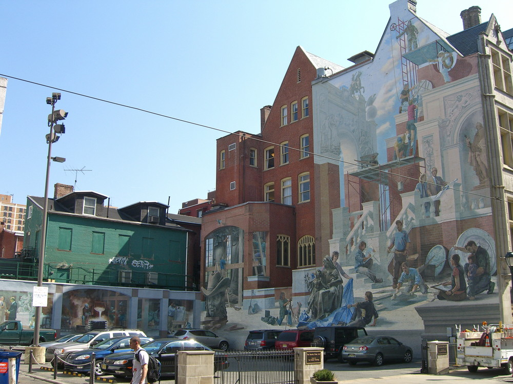 "Mural ""Perspectives 1"" in Philadelphia"