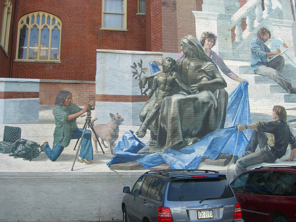 "Mural ""Perspectives 2"" in Philadelphia"