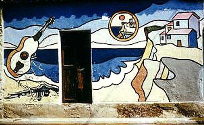 Murales in Villamar Sardinien 1980