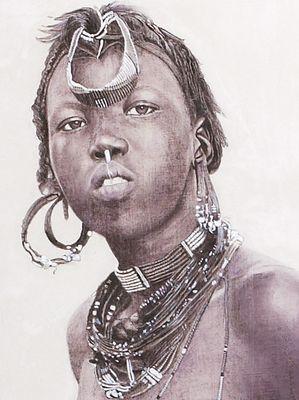 Murle girl-sudan (detail)