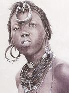 Murle girl-sudan (detail)