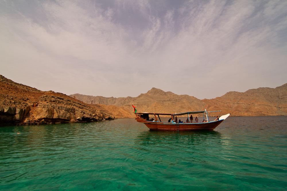 Musandam/Oman; Dhowfahrt