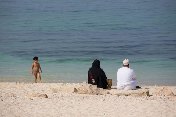 Muscat - Famiglia al mare