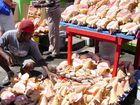 Muschelverkäufer auf Grenada