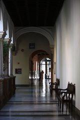 museo entrando en el museo.