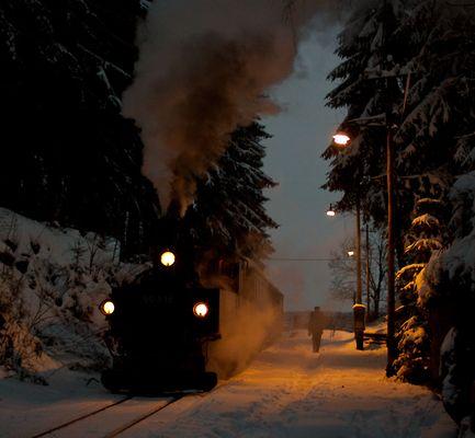 Museumsbahn Schönheide heute zum 1. Advent....