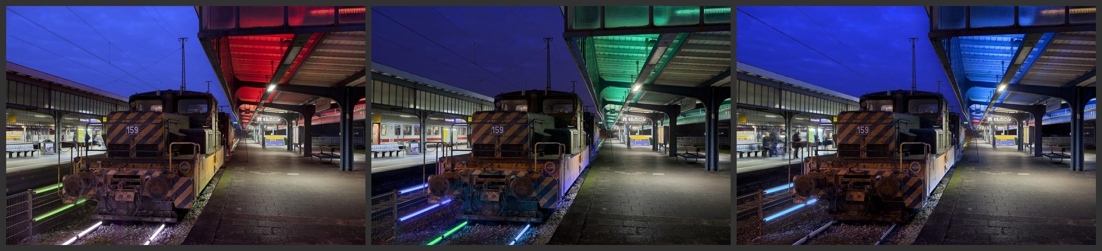 Museumsbahnsteig Oberhausen IV – R G B