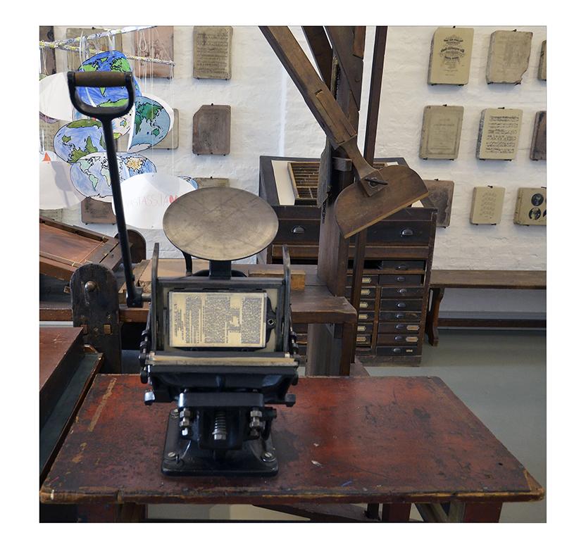 museumsbesuch.....Drucker-Presse (Boston-Tiegelpresse)