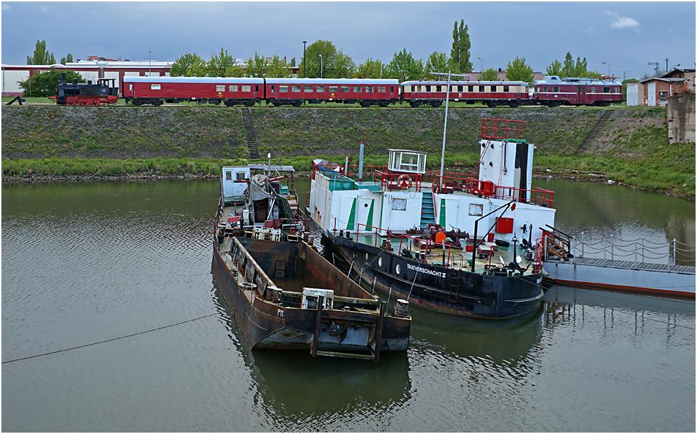 Museumshafen und Eisenbahnmuseum Magdeburg 08