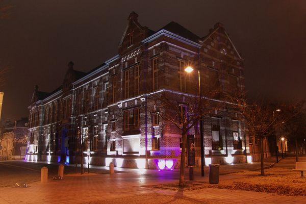 music school at night
