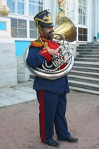 Musikant in St. Petersburg