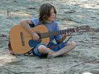 Musiker am Strand
