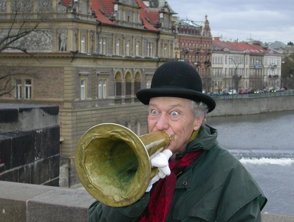 Musiker auf der Brücke in Prag