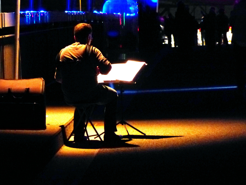 Musiker bei der Luminale