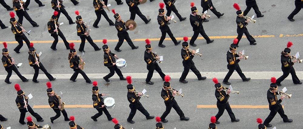 Musikkapelle beim Trachten uns Schützenumzug 2005